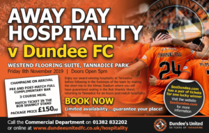 SPONSORED: Win Away Day Hospitality with Dundee United at the next city derby