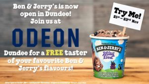SPONSORED: Ben & Jerry's offering free 'little tasters' at ice cream tasting event at Odeon Dundee
